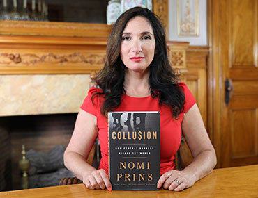 Nomi Prins with Collusion book